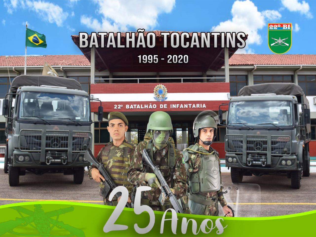22º Batalhão de Infantaria – Batalhão Tocantins comemora 25º Aniversário de Criação