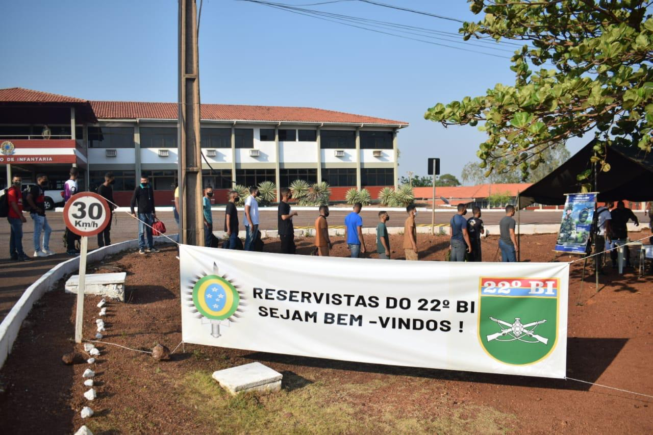 22º Batalhão de Infantaria convoca militares da reserva do Exército no Tocantins para Exercício de Mobilização