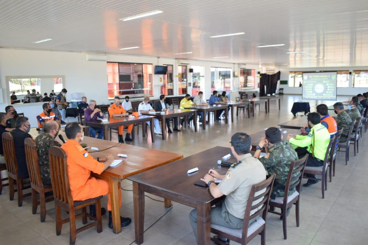 Comando Conjunto Norte realiza reunião da Operação Verde Brasil 2 com os Órgãos de Segurança Pública e Agências Ambientais em Palmas